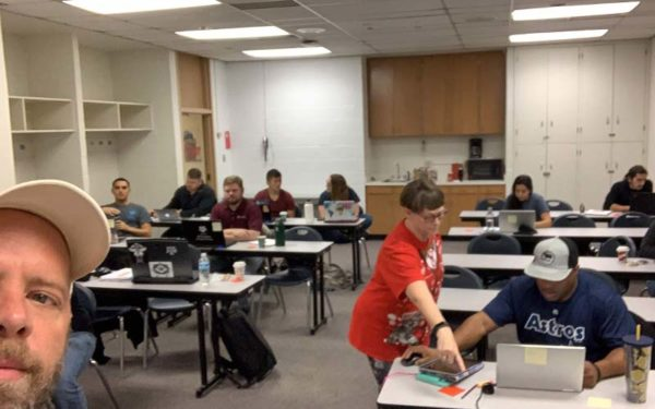 coders in a classroom